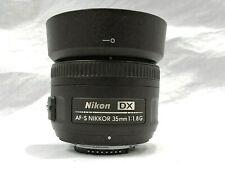 Nikon DX AF-S Nikkor 35mm 1:1.8G Camera Lens W/ UV Filter
