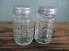 Crystal and Stainless Retro Salt & Pepper Shaker Set