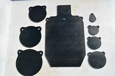 """8 pieces SET 1/2"""" AR500 steel  IDPA 2/3, 2"""", 3"""", 4"""", 5"""", 6"""", 7"""" and 8"""" gongs"""