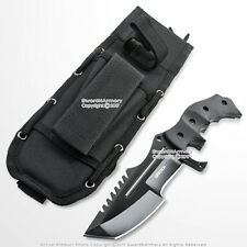 """10"""" CS Go Huntsman Tactical Bowie Fixed Blade Knife with Black Blade and Pouch"""