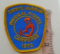 Physical Fitness Patch Distrito Agueybana  Vintage 1972