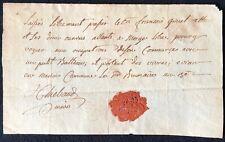 François GRIVEL Laissez-passer bateau Evian-les-bains Révolution Française 1795