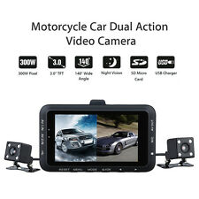 Dual Motorbike Camera Motorcycle Motorbike 0.3MP HD Video Camera DVR Camcorder
