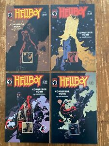 Hellboy Conqueror Worm #1-#4 Complete Set NM Dark Horse Comics Mike Mignola S