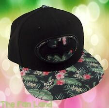 New DC Comics Batman Embroidered Floral Snapback Hat Cap