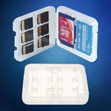 BOX CUSTODIA ORGANIZER SCHEDE DI MEMORIA MICRO e SD e MC SIM PLASTICA 8 in 1