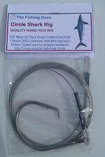 QUALITY Circle Shark Rig - 200Lb SS Wire Rope, 15/0 Circle - MADE in SOUTH AUS!