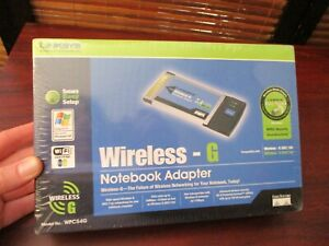 Linksys Wireless-G Notebook Adapter Model WPC54G (NEW SEALED)