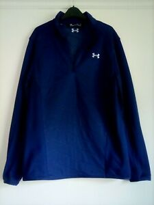 Under Armour small coldgear long sleeves top,loose,navy with 1/4 zip to front,