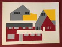 Lee Adler, International Pueblo, Serigraphie, handsigniert und nummeriert 10/55