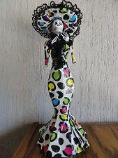 "La Catrina Paper Mache handmade day of the dead folk art Doll 14"" Mexican Craft"