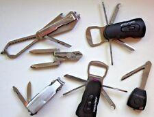 6 Swiss+Tech Multi-Tools: 2- 8-in-1 Swivel Tool, KEY, CLIPPERS &  Multi-tool