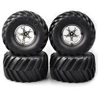 4Pcs 1:10 135mm Bigfoot Tires&Wheel 12mm Hex For HSP HPI RC Monster Truck Car