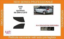 pellicola oscurante vetri pre-tagliata Audi A3 5p sportback 05-12 kit anteriore