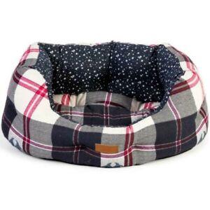 """FatFace Penguin Check Deluxe Slumber Dog Bed - 18"""" - BNWT"""