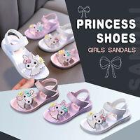 Toddler Infant Kids Baby Girls Princess Shoes Bunny Soft Shoes Summer Sandals HF