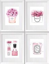 Coco No 5 Perfume Art, Watercolour Painting No Framed Art Set Of 4 A4 Art Prints