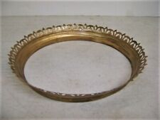 New listing Antique Yellow Brass Shade Crown Ring For Hanging Library Oil Lamp