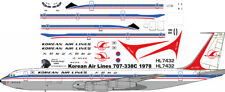 Korean Air Boeing 707-320B decals for Minicraft 1/144 kit