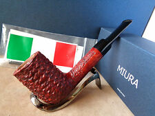 PFEIFE PIPE MIURA CAMINO RUSTIC RED BLACK  STEM  9MM  HAND MADE ITALY 24M51