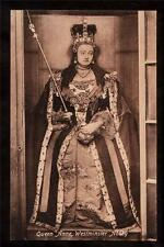 old Queen Anne likeness westminster Abbey Uk postcard