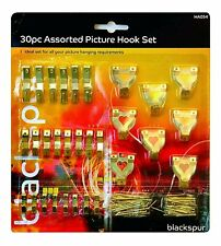 30 Piece Assorted Picture Hanging Hook Set Wall Photo Poster Decoration Hanger