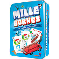 Mille Bornes Card Game Classic French Auto Car Racing Mile Bourne Touring Tin