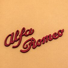 Car Body Red Metal Alfa Romeo Letter Emblem 3D Logo Badge Car Sticker Decal