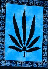 Indian Tapestry Wall Hanging Hippie Poster Size Leaf Throw Wall Decor Marijuana