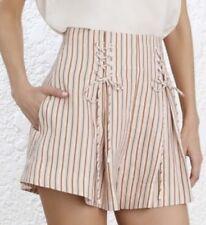 ZIMMERMANN | Sz 1 Aus 10 | Painted Heart Lace Up Shorts | Blossom Stripe