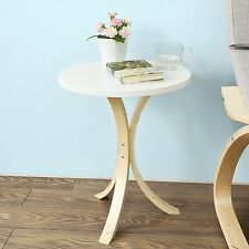Small Round Side Table Living Room Furniture Accent Coffee Three Wooden Legs NEW