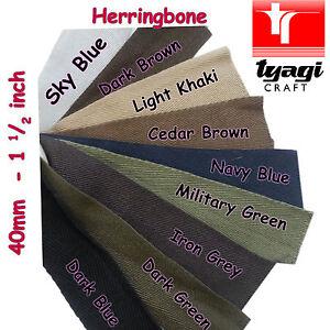 Cotton Herringbone 38mm Apron Tape Many Colour Pure Strap Edge Twill Webbing Tie
