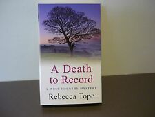 REBECCA TOPE MYSTERY/SUSPENSE - A DEATH TO RECORD - BRAND NEW, UNREAD