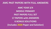 Year / Grade 3 and 4 Papers including 2020