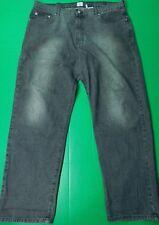 Vtg Calvin Klein Jeans Men's Size 40x32 Black Gray Faded Straight Leg Zip Fly