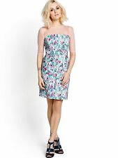 Fearne Cotton Mesh Multi Floral Print Shift Dress Size 10 BNWT B9