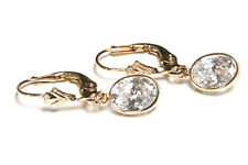 9ct Gold CZ LeverBack Earrings Made in UK Gift Boxed