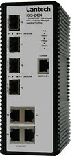 Lantech IGS-2404-E Glasfaser / Ethernet Switch - Hutschienenkompatibel