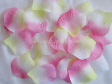 1000 PINK/YELLOW silk rose petals wedding party favors