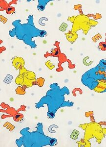 SESAME STREET Baby Crib Sheet Fitted Bedding Multicolor 2008