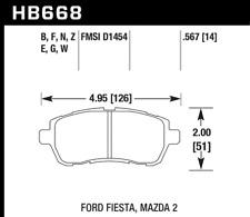 Hawk Disc Brake Pad-SE Front for Ford Fiesta / Mazda 2 # HB668B.567