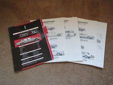 1993 LINCOLN TOWN CAR DEALERSHIP ADVERTISING DEALER ALBUM BROCHURE SHEETS SET