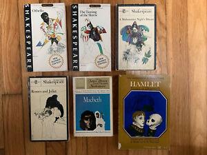Shakespeare Lot Of 6 Paperbacks