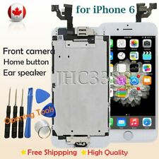 iPhone 6 LCD Assembly Screen Replacement Digitizer+Home Button+Camera White CA