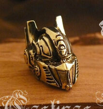 *Optimus Prime Transformers * Bronze Paracord Knife Leather Lanyard Bead / Beads