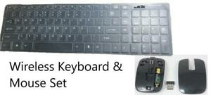Black 2.4Ghz Wireless Keyboard and Mouse Set for Lenovo Ideacentre AIO 300