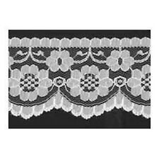 """5 METRES Quality flat White Lace Trimming  70 mm 2.1"""" Trim Craft Scalloped Edge"""