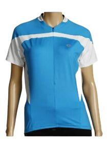 Pearl Izumi Cycling Jersey Shirt Womens Size L Blue White Elite Short Sleeve Top
