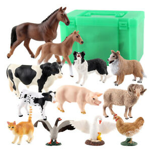 Farm Animals Figure Lovely Plastics Pony Model Toy For Kids Age 3+ With Box