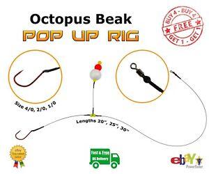 Single Hook Pop Up Rig Wire Trace -- Pike Sea Fishing -- Octopus Beak Hook